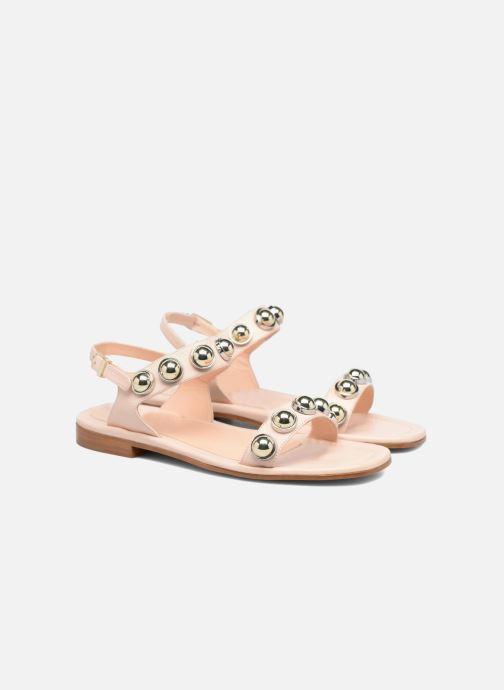 Sandales et nu-pieds Carven Resonance Flat Beige vue 3/4
