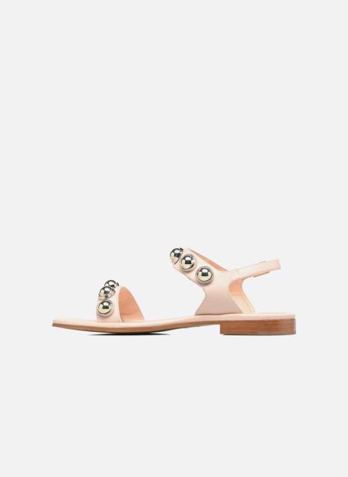 Sandales et nu-pieds Carven Resonance Flat Beige vue face