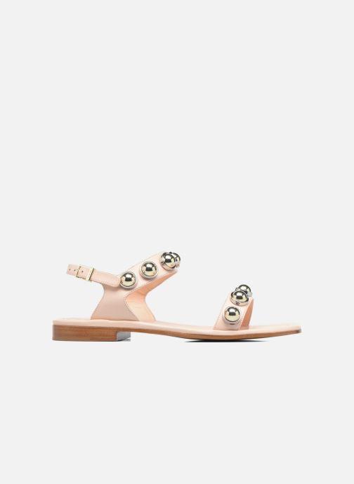 Sandales et nu-pieds Carven Resonance Flat Beige vue derrière