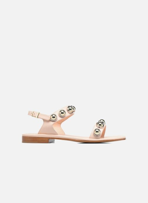 Sandaler Carven Resonance Flat Beige se bagfra