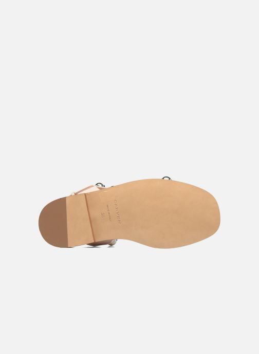 Sandales et nu-pieds Carven Resonance Flat Beige vue haut