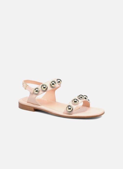 Sandaler Carven Resonance Flat Beige detaljeret billede af skoene