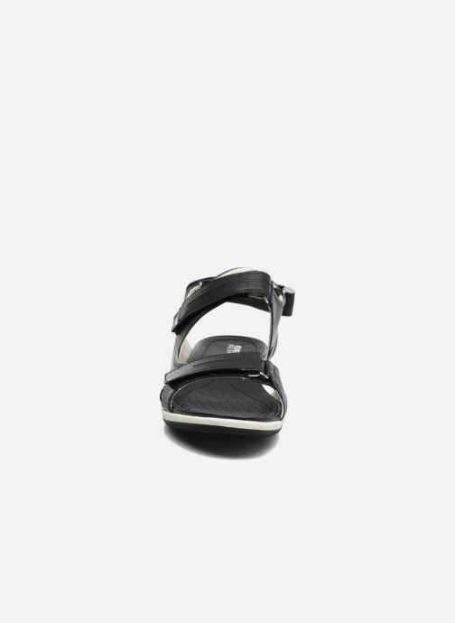 Sandali e scarpe aperte Geox D SAND.VEGA A D52R6A Nero modello indossato