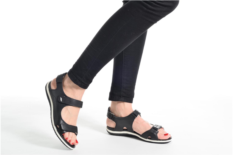 Sandali e scarpe aperte Geox D SAND.VEGA A D52R6A Nero immagine dal basso