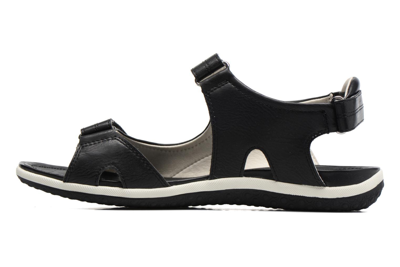 Sandals Geox D SAND.VEGA A D52R6A Black front view