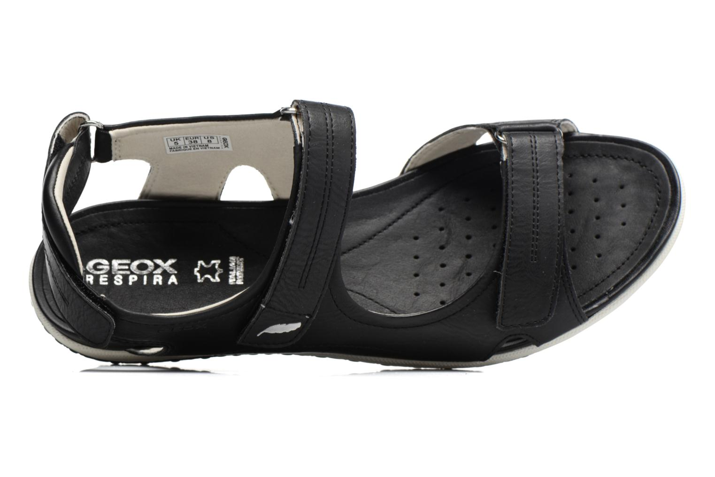 Sandali e scarpe aperte Geox D SAND.VEGA A D52R6A Nero immagine sinistra