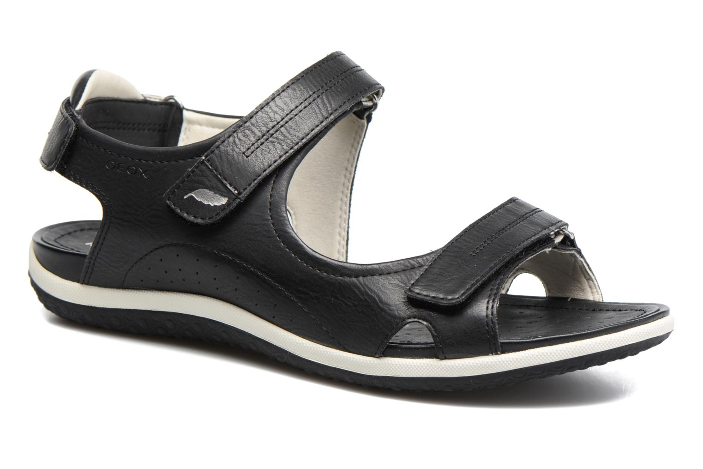 Sandals Geox D SAND.VEGA A D52R6A Black detailed view/ Pair view
