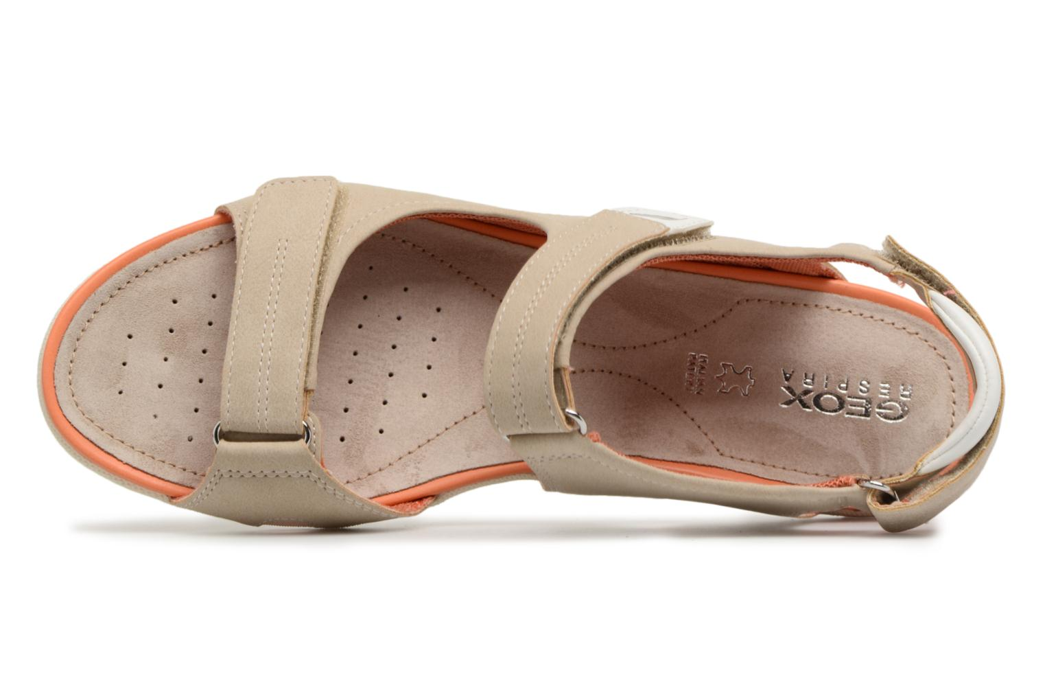 Sandals Geox D SAND.VEGA A D52R6A Beige view from the left