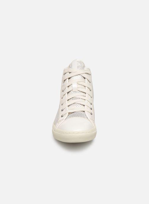 Baskets Geox D NEW CLUB E D5458E Blanc vue portées chaussures