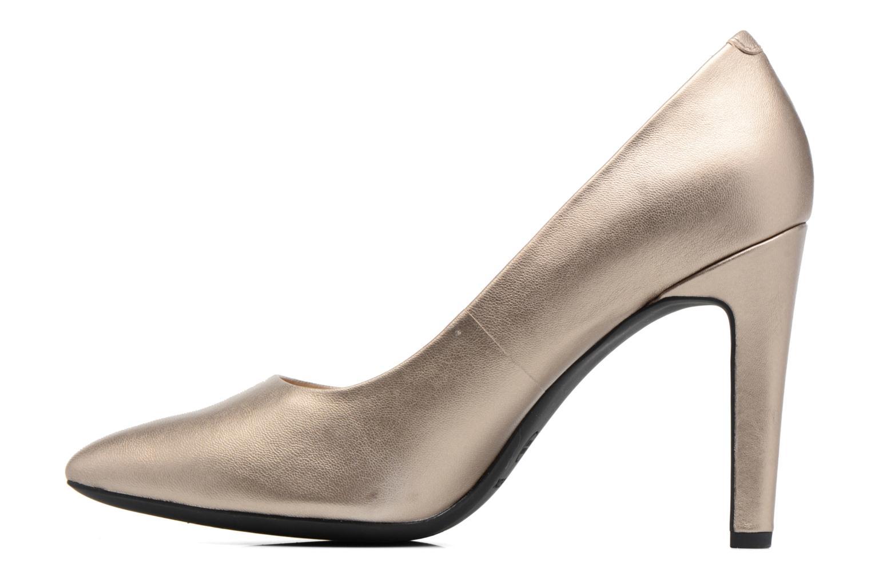 High heels Geox D CAROLINE C D62W1C Bronze and Gold front view