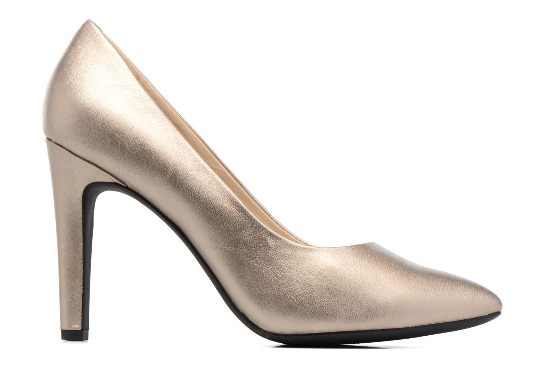 Høje hæle Geox D CAROLINE C D62W1C Guld og bronze se bagfra