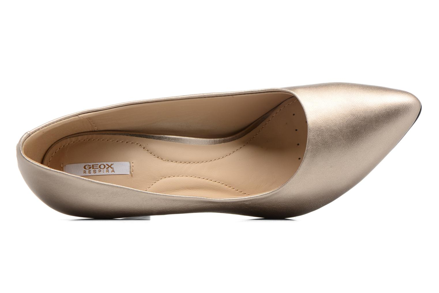 High heels Geox D CAROLINE C D62W1C Bronze and Gold view from the left