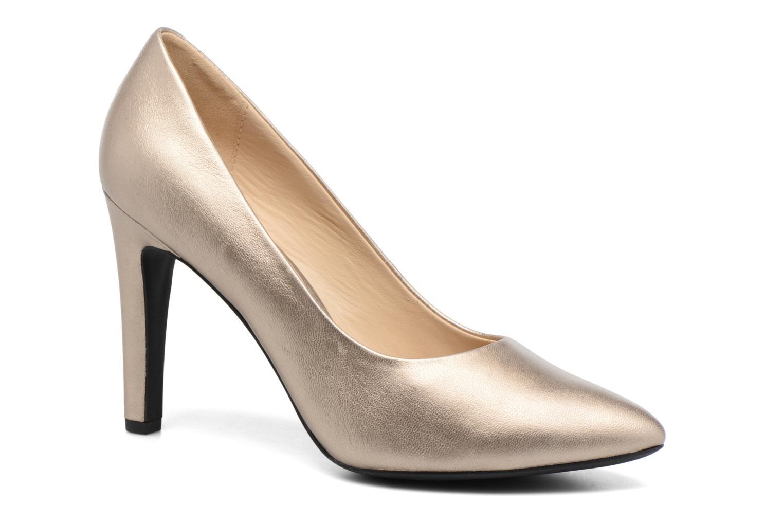 Høje hæle Geox D CAROLINE C D62W1C Guld og bronze detaljeret billede af skoene