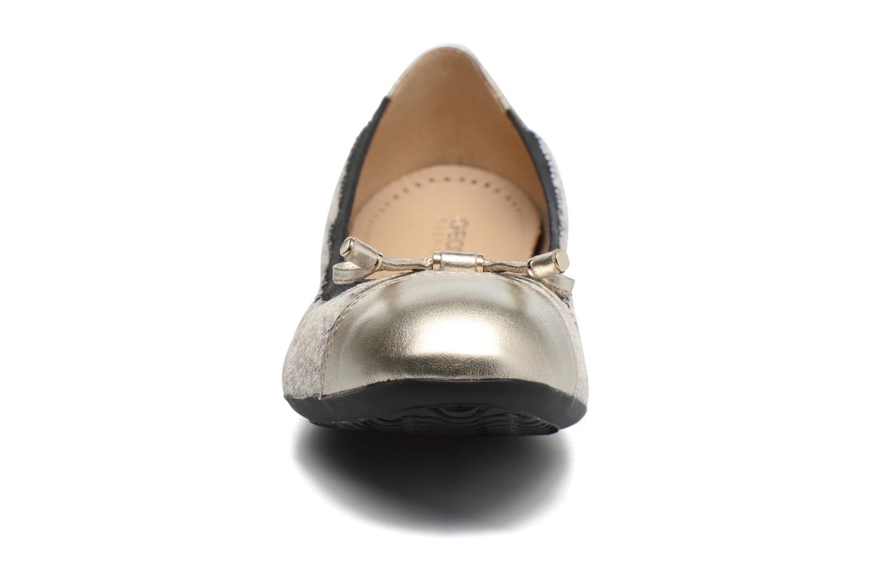 Ballerines Geox D LOLA 2FIT C D643DC Or et bronze vue portées chaussures