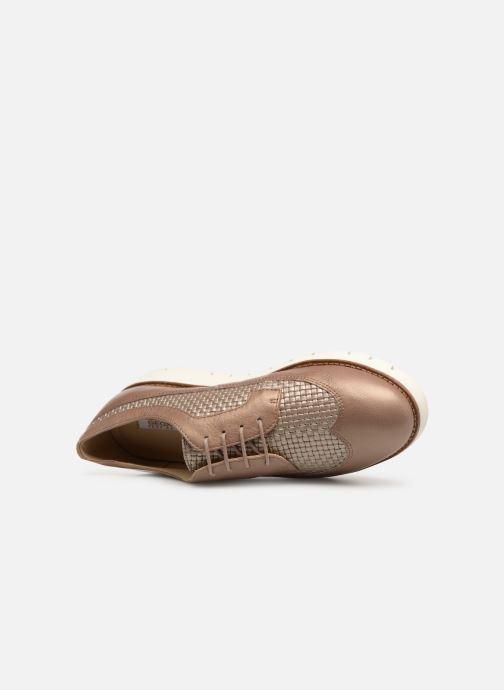 Zapatos con cordones Geox D BLENDA A D720BA Marrón vista lateral izquierda