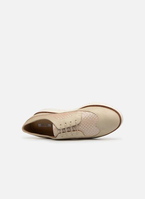 Chaussures à lacets Geox D BLENDA A D720BA Blanc vue gauche
