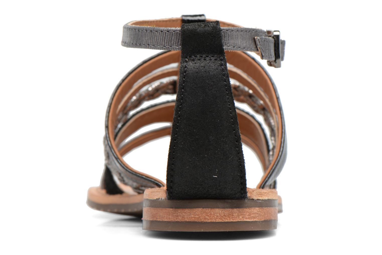 Sandales et nu-pieds Geox D SOZY E D722CE Noir vue droite