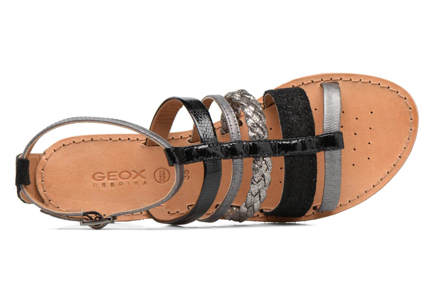 Sandals Geox D SOZY E D722CE Black view from the left