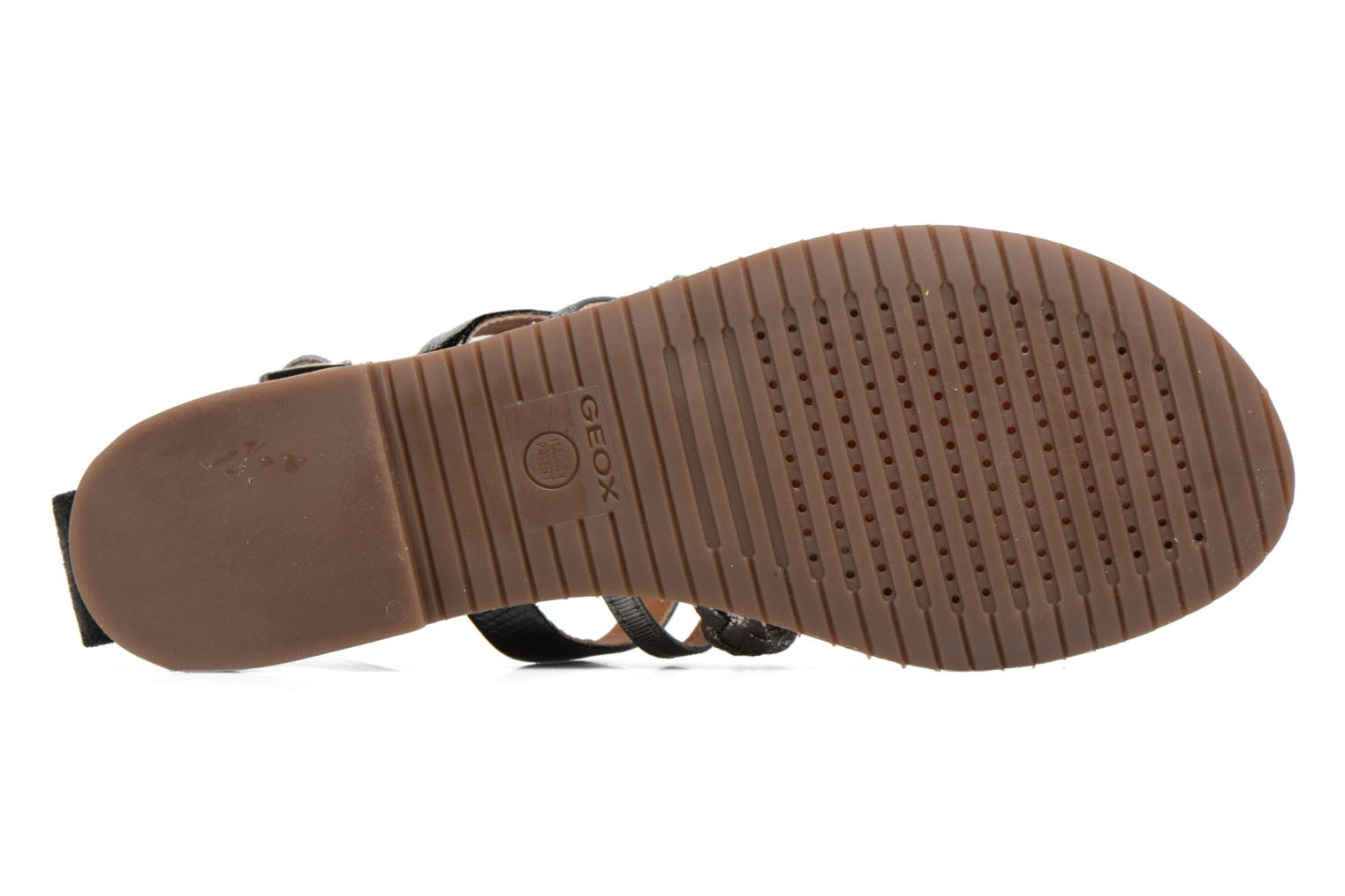 Sandals Geox D SOZY E D722CE Black view from above
