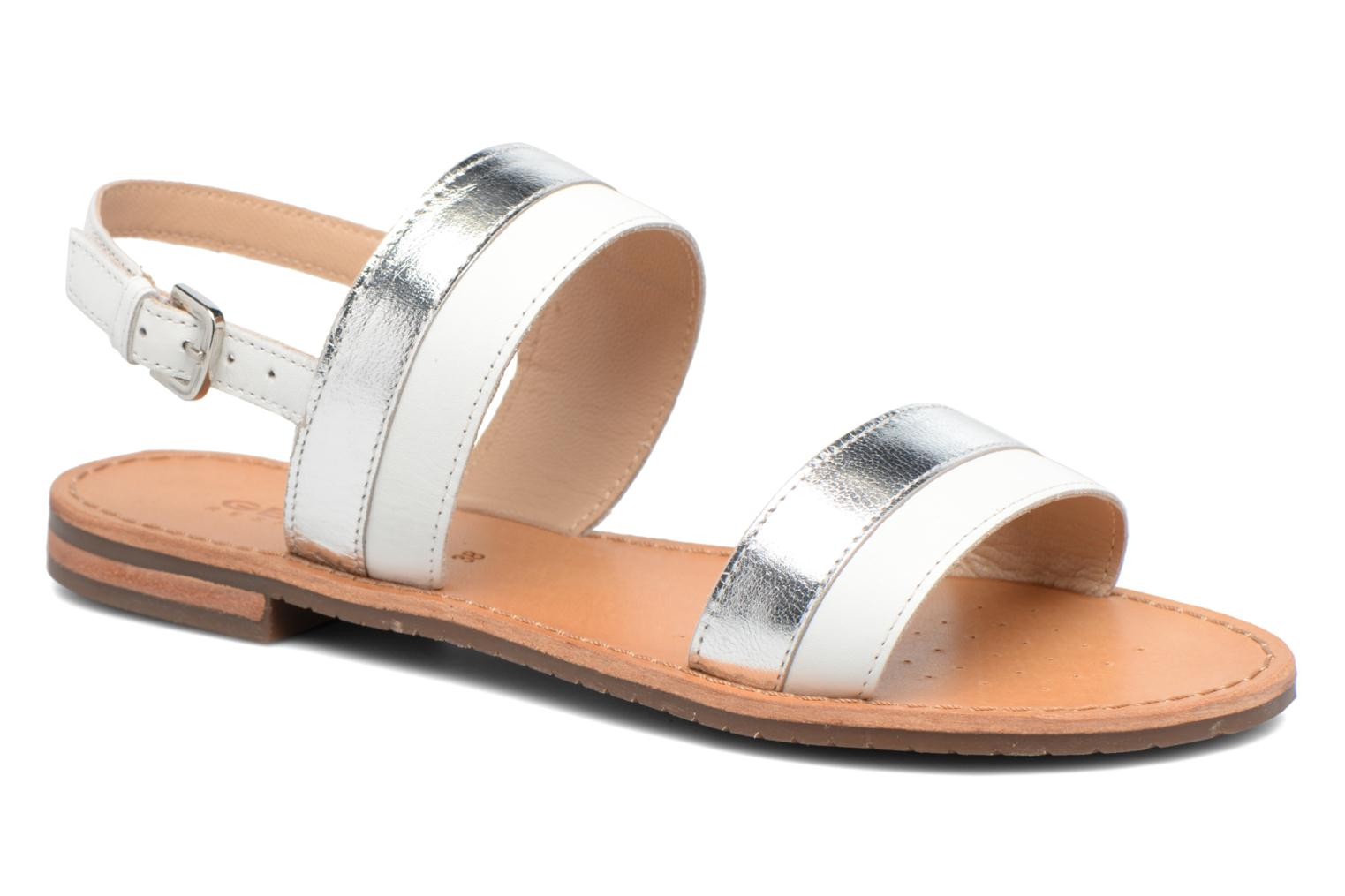 Sandals Geox D SOZY F D722CF White detailed view/ Pair view
