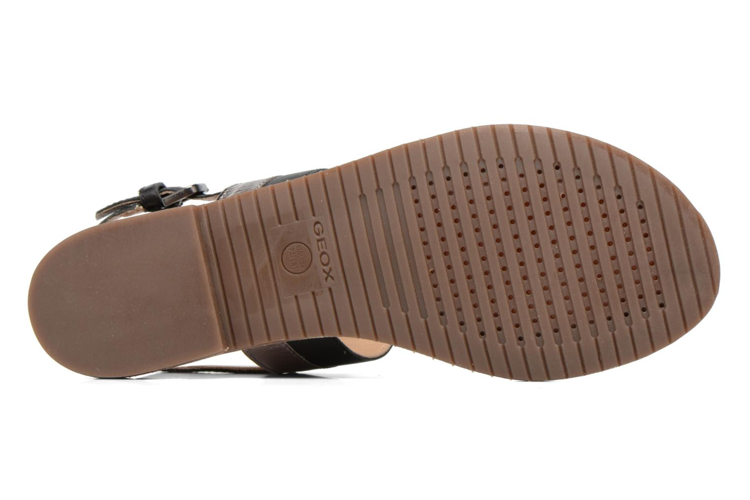 Sandals Geox D SOZY F D722CF Black view from above