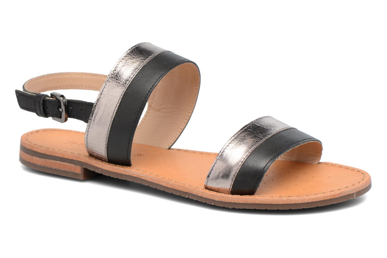 Sandals Geox D SOZY F D722CF Black detailed view/ Pair view