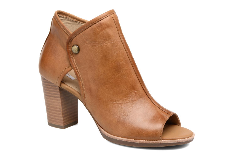 Ankelstøvler Geox D NEW CALLIE B D7240B Brun detaljeret billede af skoene