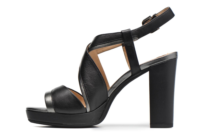 Sandales et nu-pieds Geox D MAUVELLE D D724LD Noir vue face