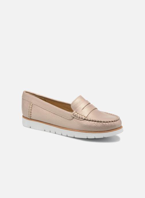 Loafers Geox D KOOKEAN F D724PF Beige detaljeret billede af skoene