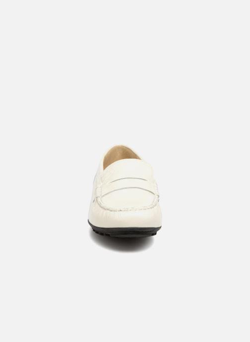 Mocassins Geox D LEELYAN B D724RB Blanc vue portées chaussures