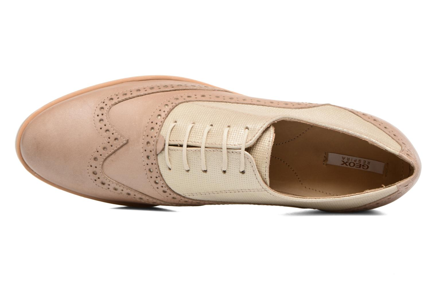 Lace-up shoes Geox D JANALEE G D725AG Bronze and Gold view from the left