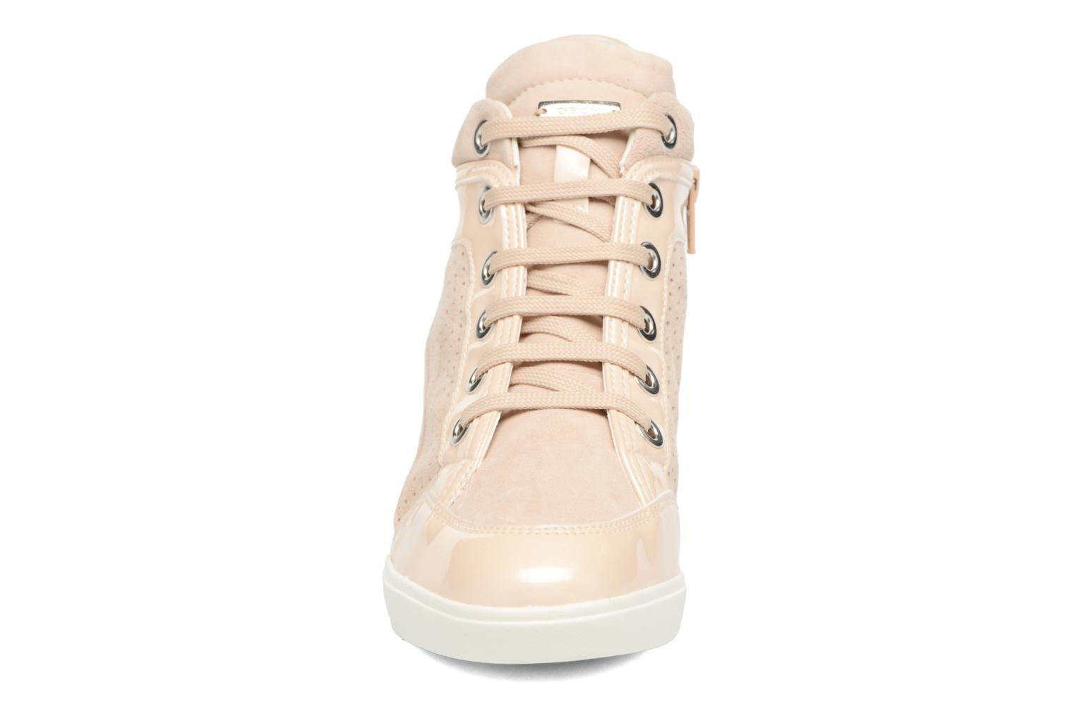 Trainers Geox D ELENI C D7267C Bronze and Gold model view