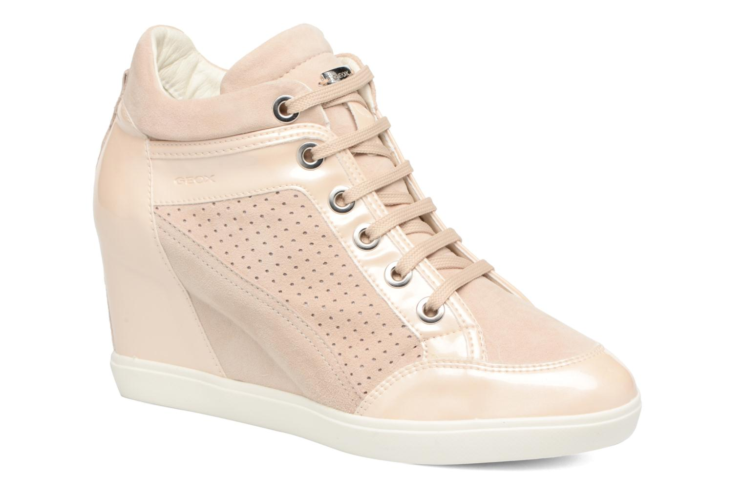 Trainers Geox D ELENI C D7267C Bronze and Gold detailed view/ Pair view
