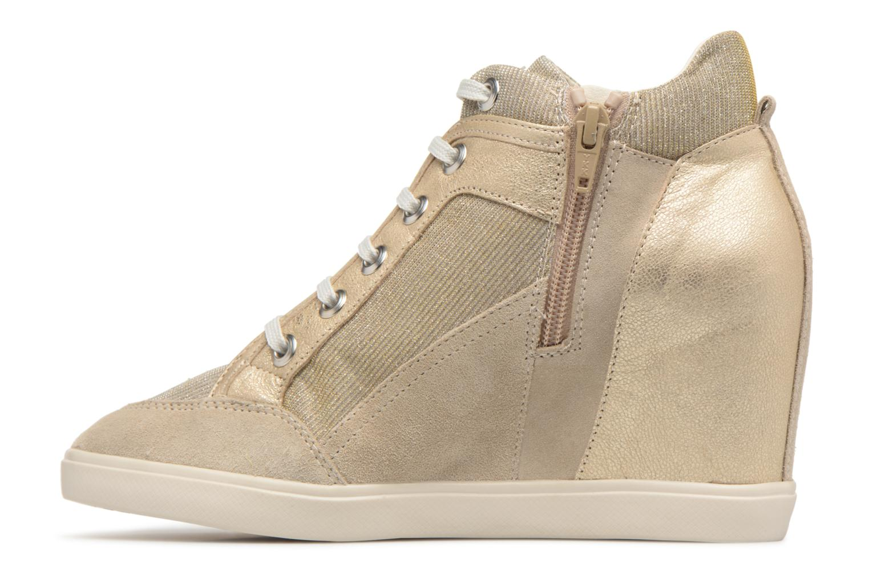 Sneakers Geox D ELENI C D7267C Oro e bronzo immagine frontale