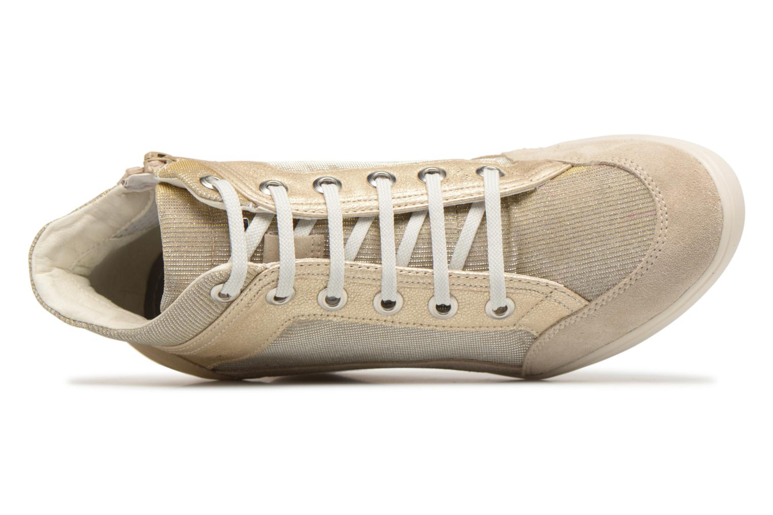 Trainers Geox D ELENI C D7267C Bronze and Gold view from the left