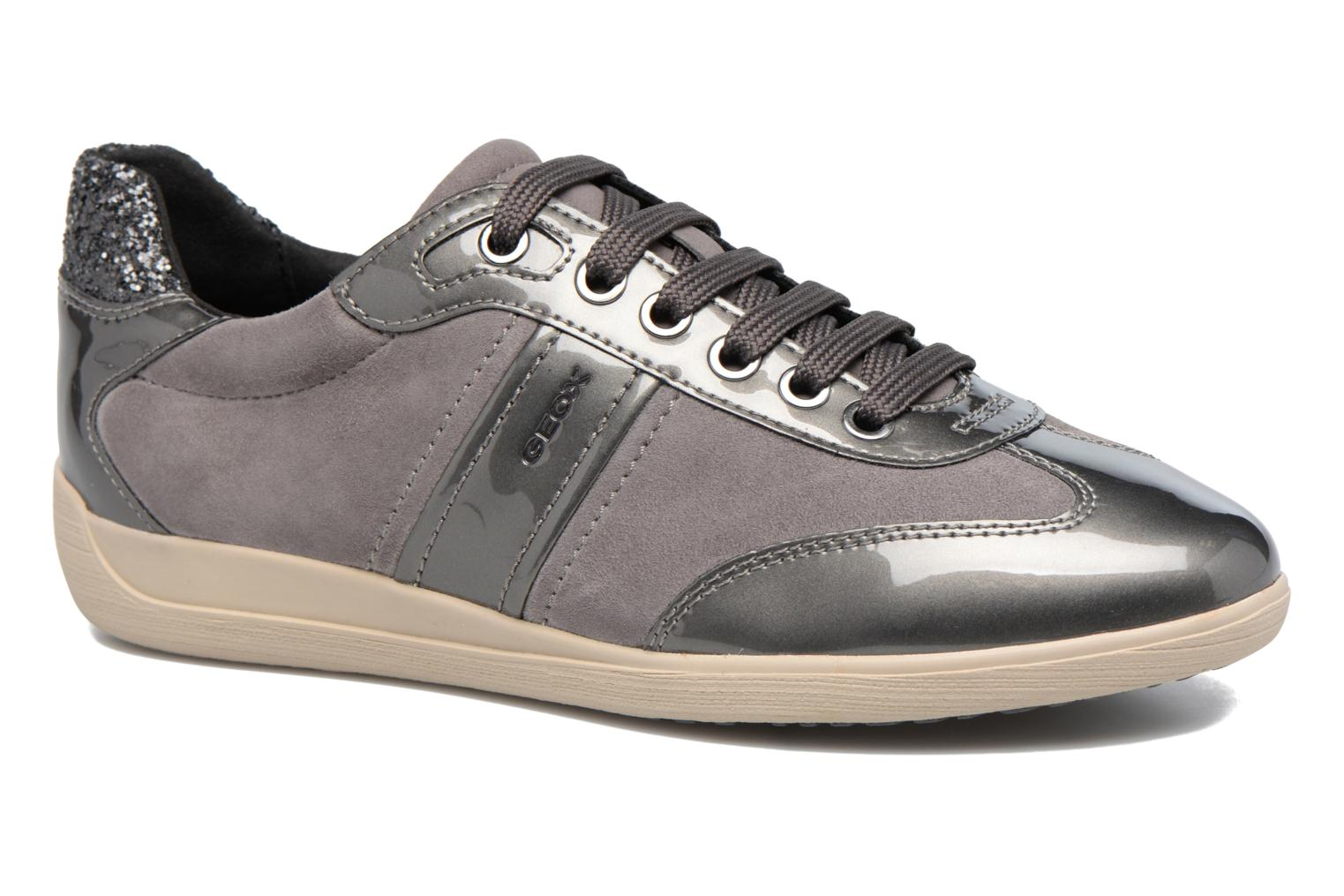 Trainers Geox D MYRIA A D7268A Grey detailed view/ Pair view