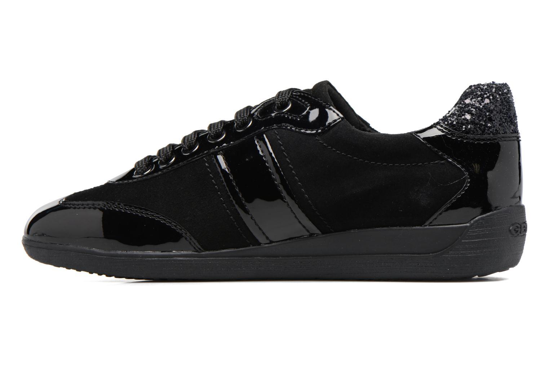 Sneaker Geox D MYRIA A D7268A schwarz ansicht von vorne