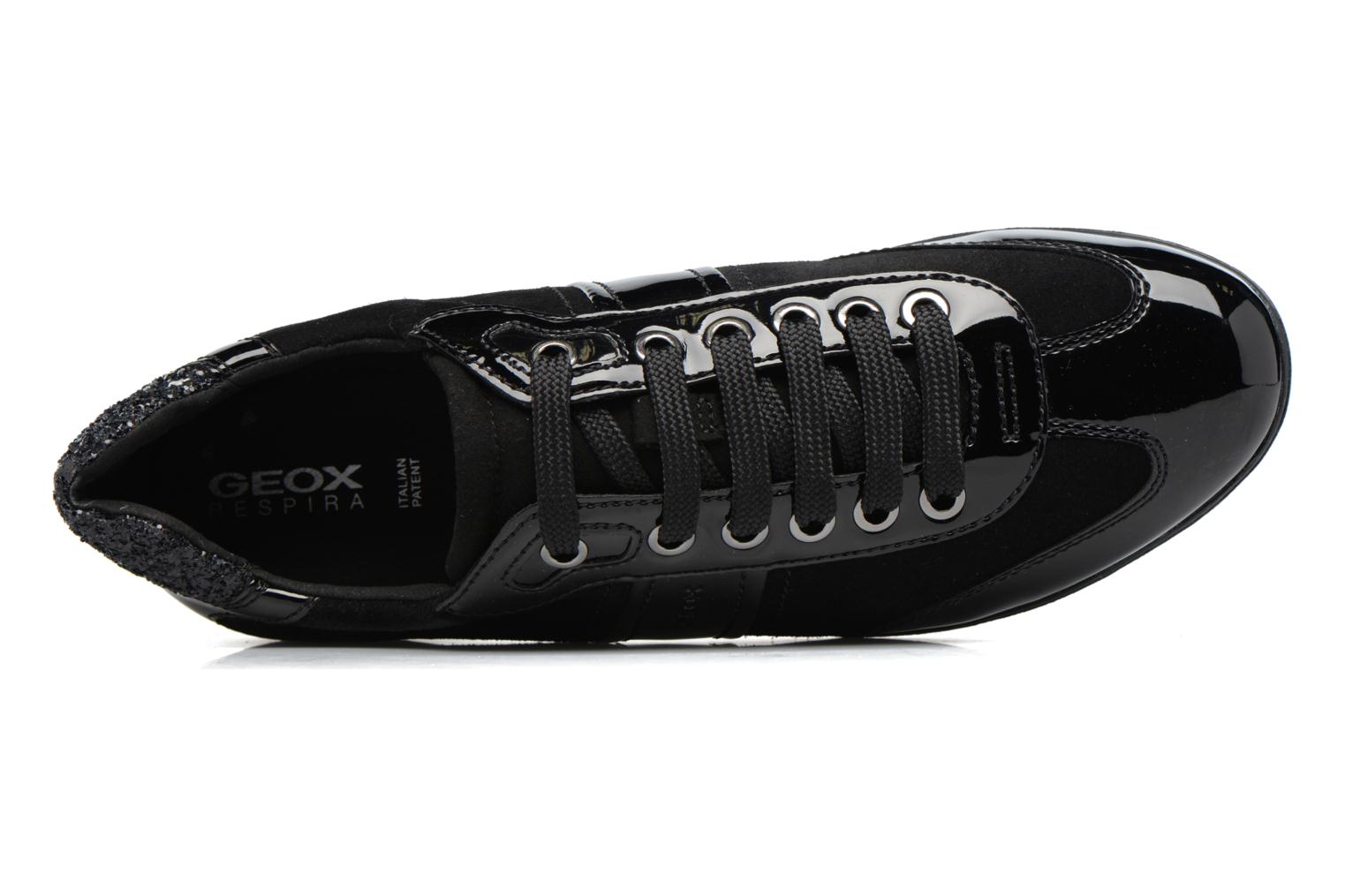 Sneakers Geox D MYRIA A D7268A Zwart links