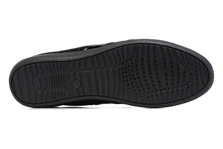Sneaker Geox D MYRIA A D7268A schwarz ansicht von oben