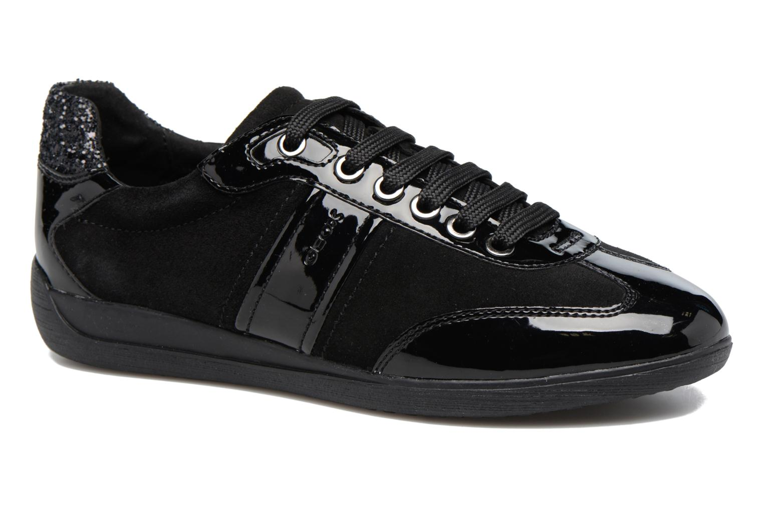 Trainers Geox D MYRIA A D7268A Black detailed view/ Pair view