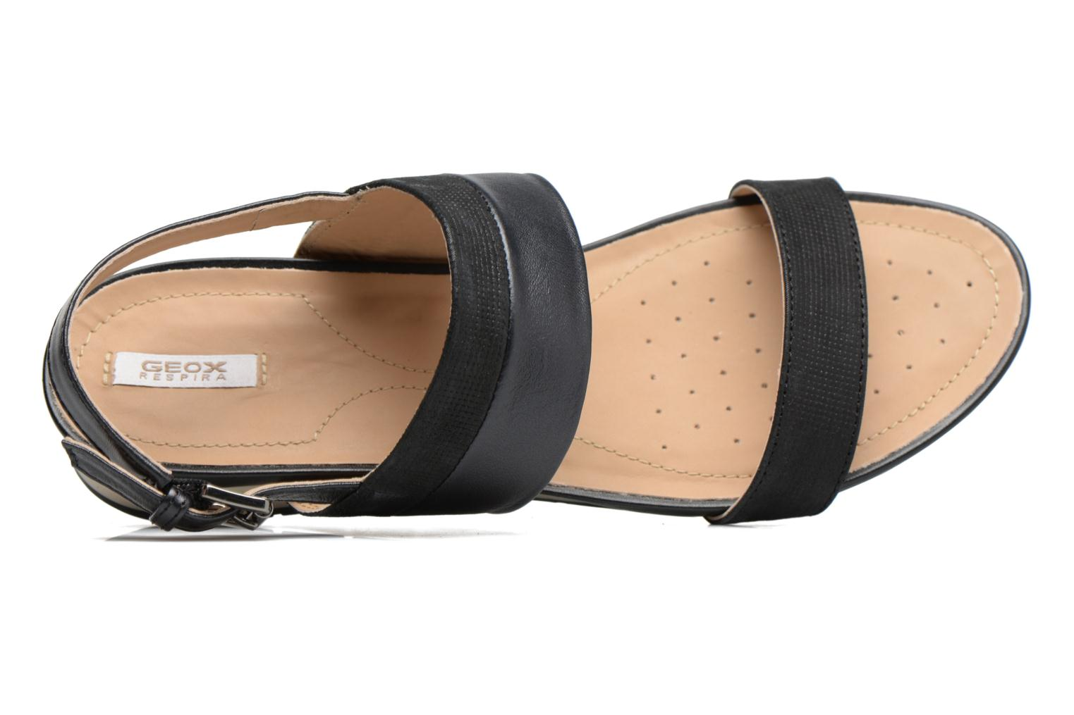 Sandals Geox D FORMOSA C D7293C Black view from the left