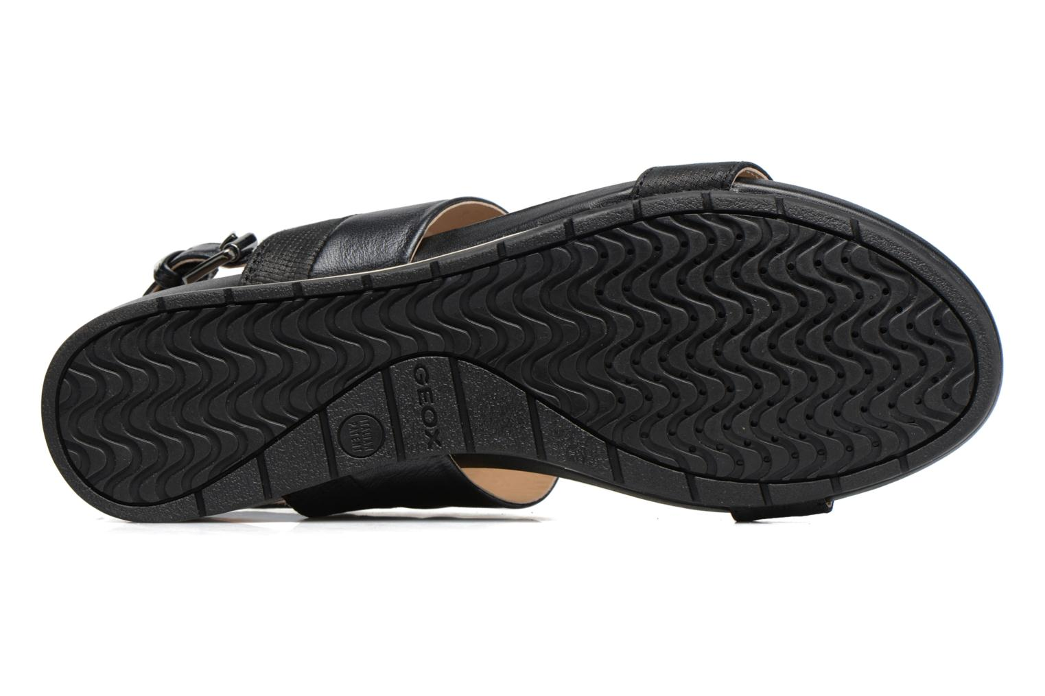 Sandals Geox D FORMOSA C D7293C Black view from above