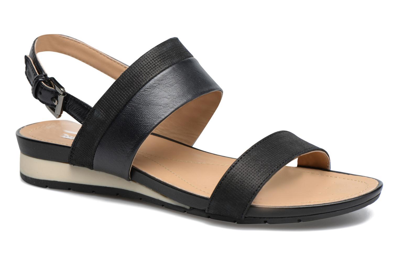 Sandals Geox D FORMOSA C D7293C Black detailed view/ Pair view