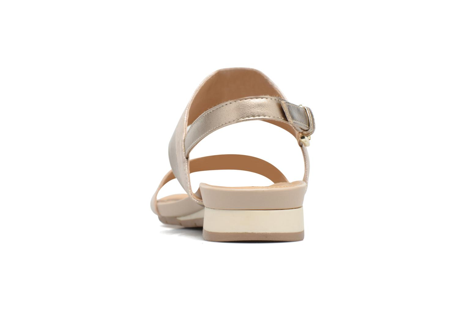 Sandals Geox D FORMOSA C D7293C Bronze and Gold view from the right
