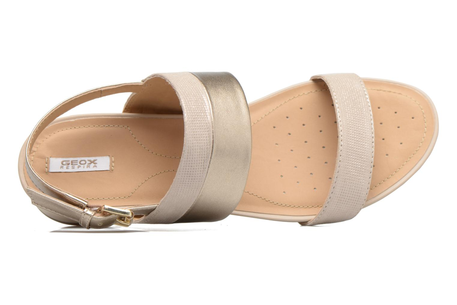 Sandals Geox D FORMOSA C D7293C Bronze and Gold view from the left