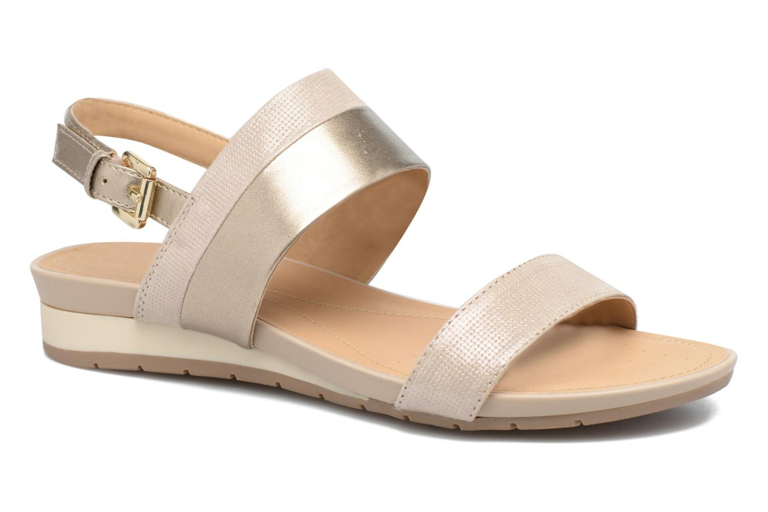Sandals Geox D FORMOSA C D7293C Bronze and Gold detailed view/ Pair view