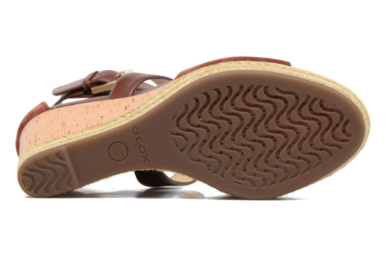 Sandales et nu-pieds Geox D JANIRA E D72P6E Marron vue haut