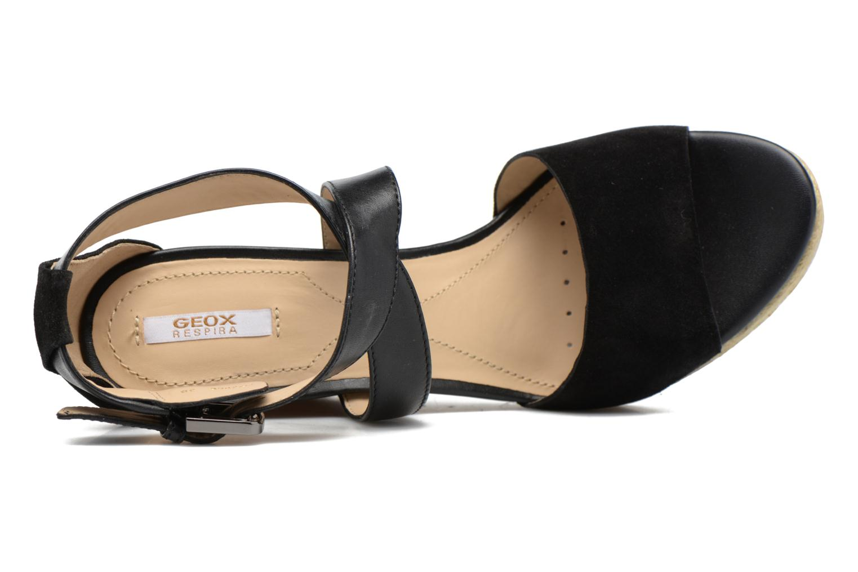 Sandales et nu-pieds Geox D JANIRA E D72P6E Noir vue gauche