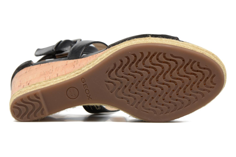 Sandales et nu-pieds Geox D JANIRA E D72P6E Noir vue haut