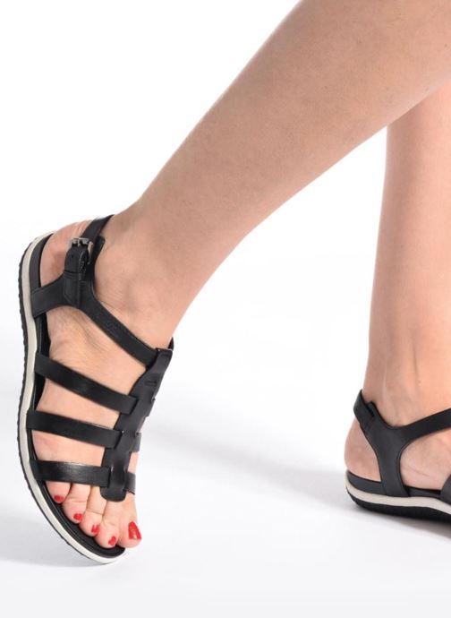 Sandales et nu-pieds Geox D SAND.VEGA A D72R6A Noir vue bas / vue portée sac